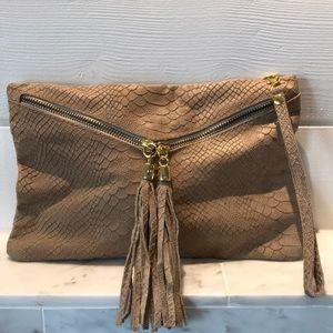 Italian Leather Wristlet or Clutch Bag EUC!